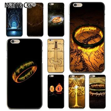 MaiYaCa Moive The Lord of The Rings the one ring Coque Shell Phone Case  for Apple iPhone 8 7 6 6S Plus X 5 5S SE 5C Cover