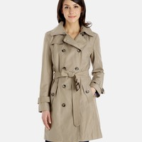 Women's Sandra Classic Double Breasted Trench Coat | London Fog