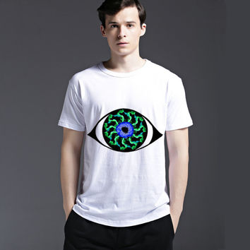 Summer Casual Creative Fashion Cotton Men's Fashion Short Sleeve T-shirts [6541805571]