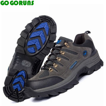 Outdoor hiking shoes men trekking breathable leather brand outventure travel hunting athletic sneakers shoes boots size 36-47