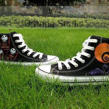 nightmare christmas shoes studio hand painted shoes 49 99usd paint on custom converse