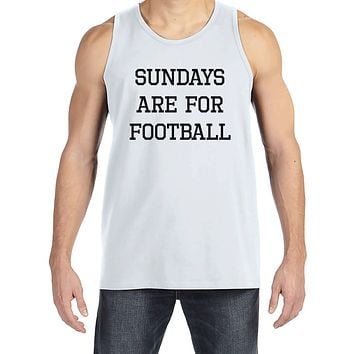 Men's Football Shirt - Sundays Are For Football - Mens Football Shirts - White Tank Top - Gift for Him - Gift Idea for Boyfriend or Dad