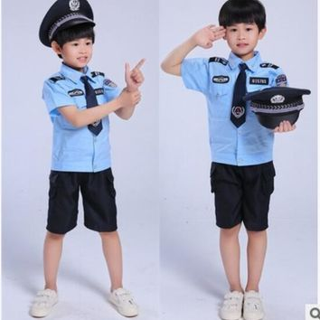 Halloween Party New Arrival Super Police Cosplay Costume For Kids Cute Children Costumes Boy Fancy