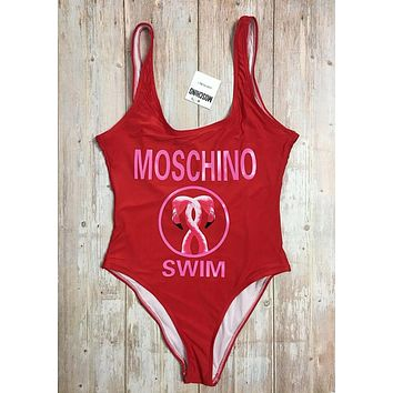 MOSCHINO One Piece Swimwear Bikini Set MOS04 Red