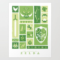 It's Dangerous to Go Alone - Tribute to The Legend of Zelda Art Print by Jeff Langevin