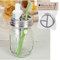 Mason Jar Toothbrush Holder - Box of 4