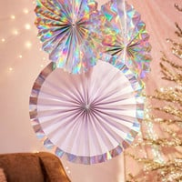 Ginger Ray Iridescent Pinwheel Set | Urban Outfitters