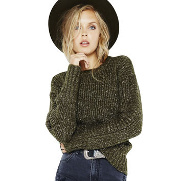 By The Fire Zip Back Sweater
