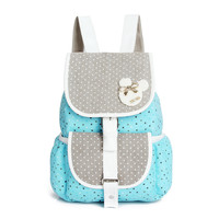 Appliques Dot Canvas Backpacks For Women