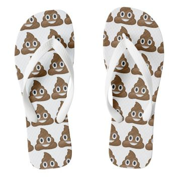 poop emoji flip flops sandals shoes