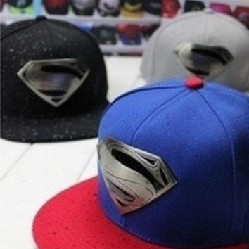 PEAPIX3 New Fashion Hot Sell Hero Superman Flat Brimmed Hat Men&Women's Hip-hop Hat = 1946322244