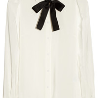 Dolce & Gabbana - Silk crepe de chine pussy-bow blouse