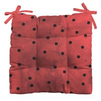 Georgiana Paraschiv Flamenco Dots Outdoor Seat Cushion