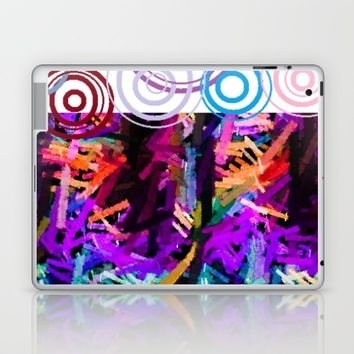 Rainbow drops Laptop & iPad Skin by violajohnsonriley