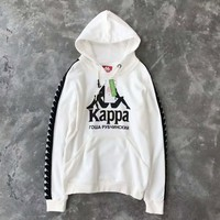One-nice™ kappa×gosha long sleeve Hooded pullover H-A-GHSY-1