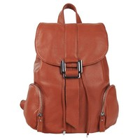 MapleClan Preppy Style Cow Leather Women's Backpack