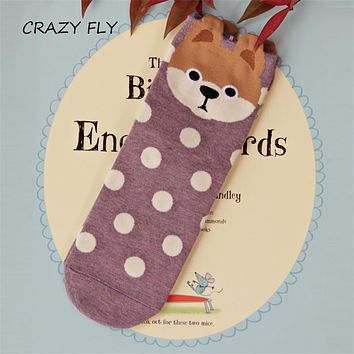 CRAZY FLY Korea Synchronization - level dog adult adult socks cartoon fall and winter in the tube socks Mother's Day gift