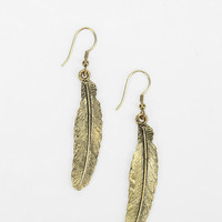 Etched Feather Earring - Urban Outfitters