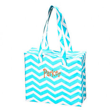 Personalized monogram large tote bag by AfterNineDesigns on Etsy