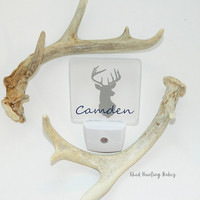 Personalized Deer Head LED Night Light More Colors Available! Woodland Nursery Decor