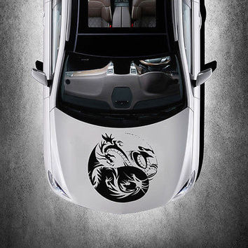 Taoism Dragons Sign Yin and Yang HOOD CAR VINYL STICKER DECALS GRAPHICS SV3659