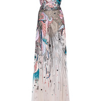 Bead Embroidered Tulle Gown | Moda Operandi