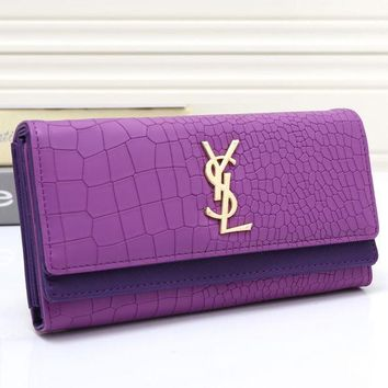 One-nice™ YSL Women Leather Buckle Wallet Purse