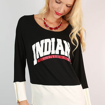 Indiana University Color Block Tunic
