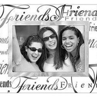 Malden Clear Expressions Glass Picture Frame, Friends, 4 by 6-Inch