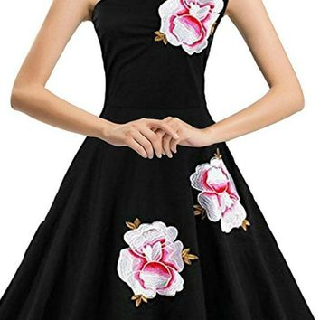 Romantic Rose One Shoulder Dress