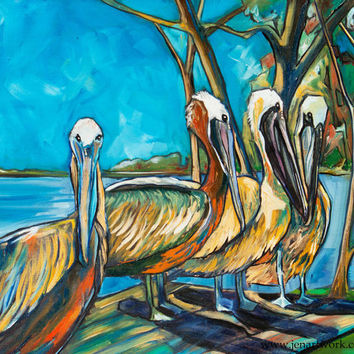 Lunch-Giclee by Jen Callahan Canvas Wrap