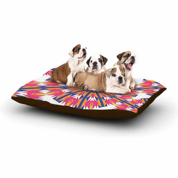 "Miranda Mol ""Modern Dutch Tulips "" Coral Indigo Dog Bed"