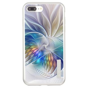 Floral Fantasy, Colorful Abstract Fractal Flower Incipio DualPro Shine iPhone 7 Plus Case
