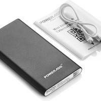 Poweradd Pilot Mini 5000mAh Portable Charger External Battery Pack Power Bank for iPhone, Samsung Galaxy, HTC, LG, Other Phones and Tablets - Black