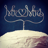 Mr + Mrs Wedding Cake Topper