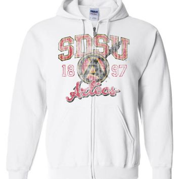 Official NCAA San Diego State University Aztecs SDSU Aztec Warrior Basic Zip Hoodie - sdsu1017