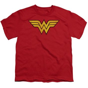 Wonder Woman Logo Dist Short Sleeve Youth 18/1