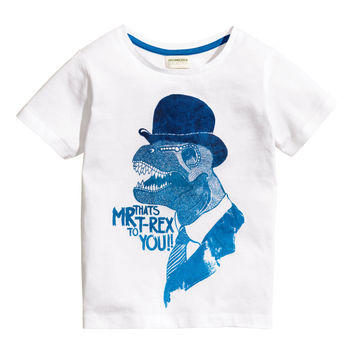 H&M - T-shirt with Printed Design - White - Kids