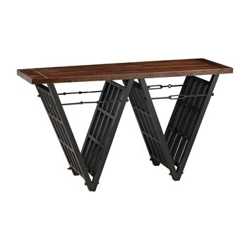 351-10166 Industrial Era Console with Iron Stretcher - Free Shipping!