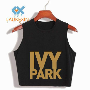 Summer 2016 Ivy Park Letter Printed Cropped Women's Sexy Crop Top