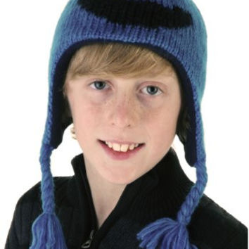 Knitwits Little Kids' Cookie Monster Fleece-Lined Wool Pilot Hat