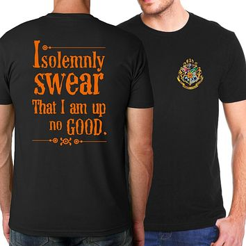 I Solemnly Swear that I am Up To No Good T-shirt Hogwarts/Resident Evil/Breaking Bad/Assassin's Creed 2018 summer men's T-shirts