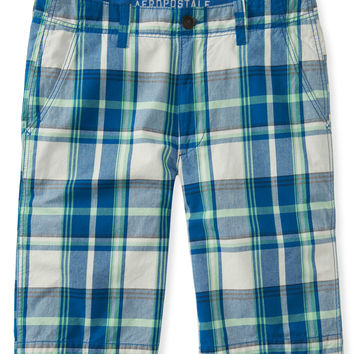 Aeropostale  Plaid Flat-Front Shorts