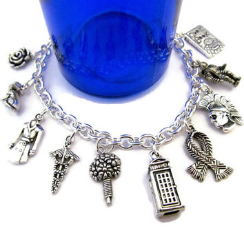 Travelers - A Doctor Who Companions Charm Bracelet