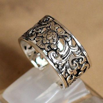 Antique Look 925 Sterling Silver Ring
