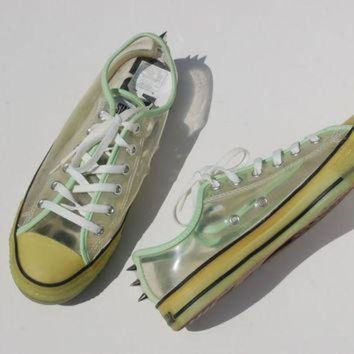 CREYONB Glow in the Dark Studded Converse Allstars - Hard to Find Rare Chucks - Lo Tops - Rave