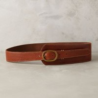 Asymmetrical Leather Belt by Anthropologie Cedar