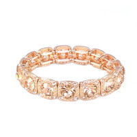 Rose Gold Gem Bracelet