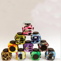 Mulit color New Fidget Cube Camouflage Fidget Spinner The World's First American Hand Spinner Decompression Anxiety Toys
