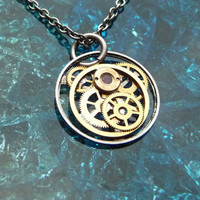 Clockwork Pendant Myth Recycled Mechanical by amechanicalmind